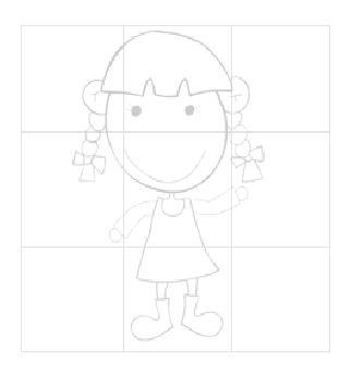 可爱女孩-学习简笔画-儿童资源网手机版