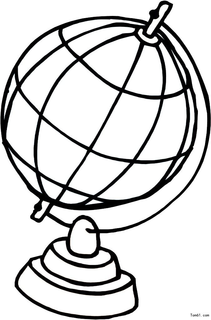 地球仪-简笔画图片-儿童资源网手机版图片