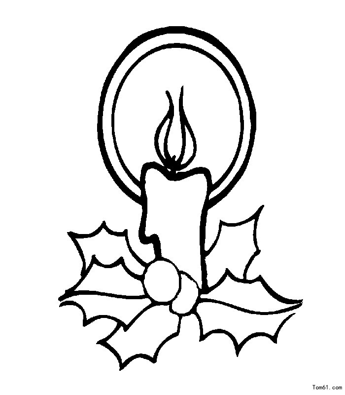 蜡烛的简笔画步骤图片