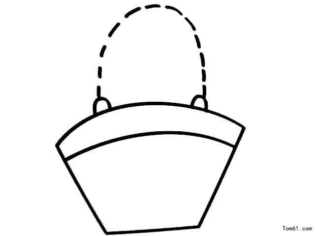 厨具; 菜篮子简笔画   厨具; 篮子里的蔬菜简笔画