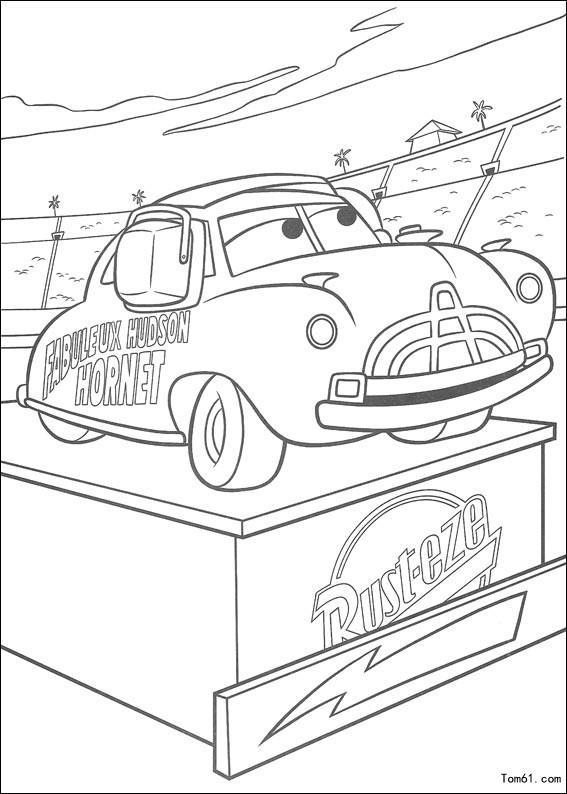 汽车总动员2-简笔画图片-儿童资源网手机版