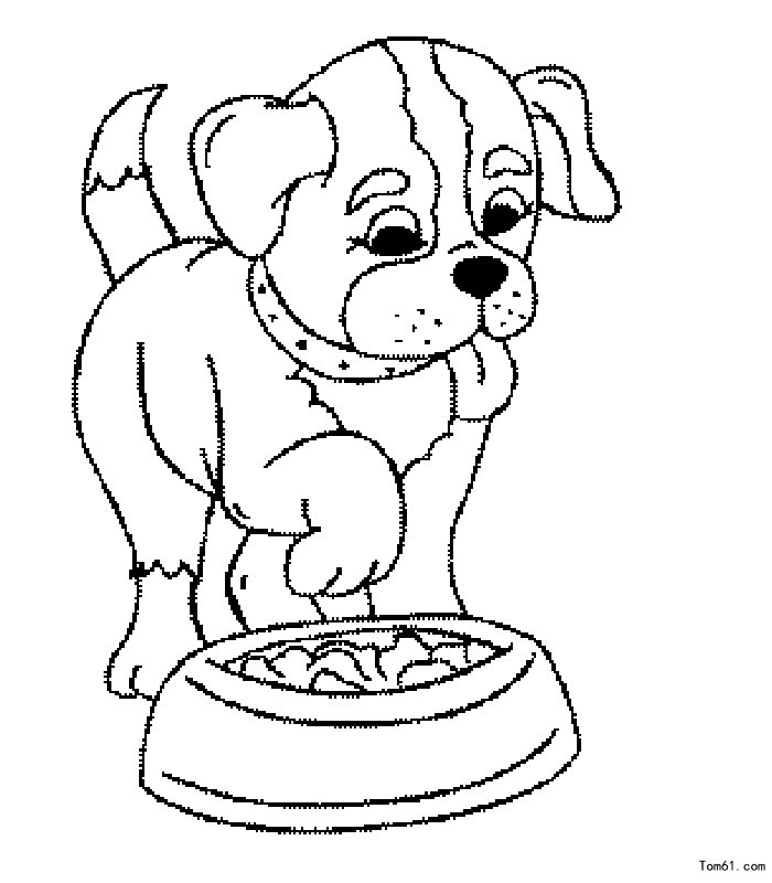 小狗-简笔画图片-儿童资源网手机版