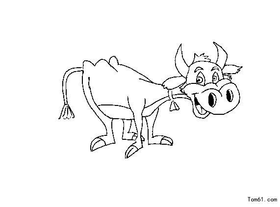 牛-简笔画图片-儿童资源网手机版