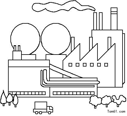 城市-简笔画图片-儿童资源网手机版