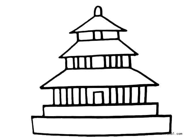 天安门-简笔画图片-儿童资源网手机版