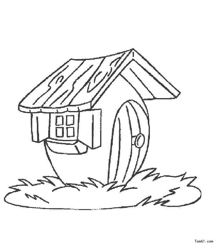 房子-简笔画图片-儿童资源网手机版