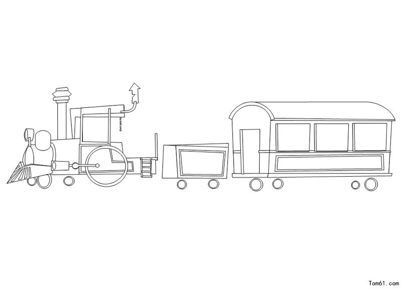 可爱火车简笔画