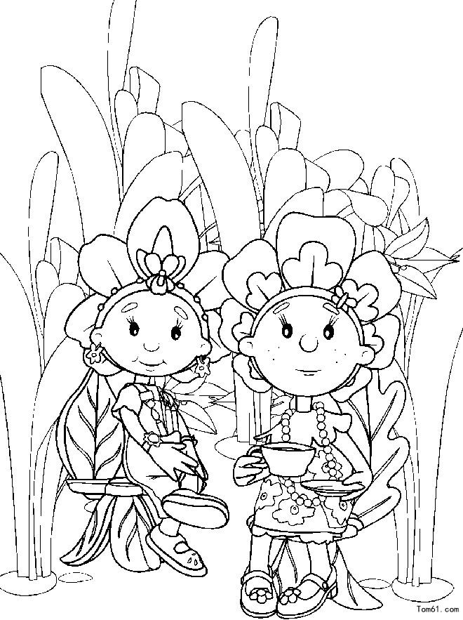 花仙子涂色 简笔画图片 儿童资源网手机版 高清图片