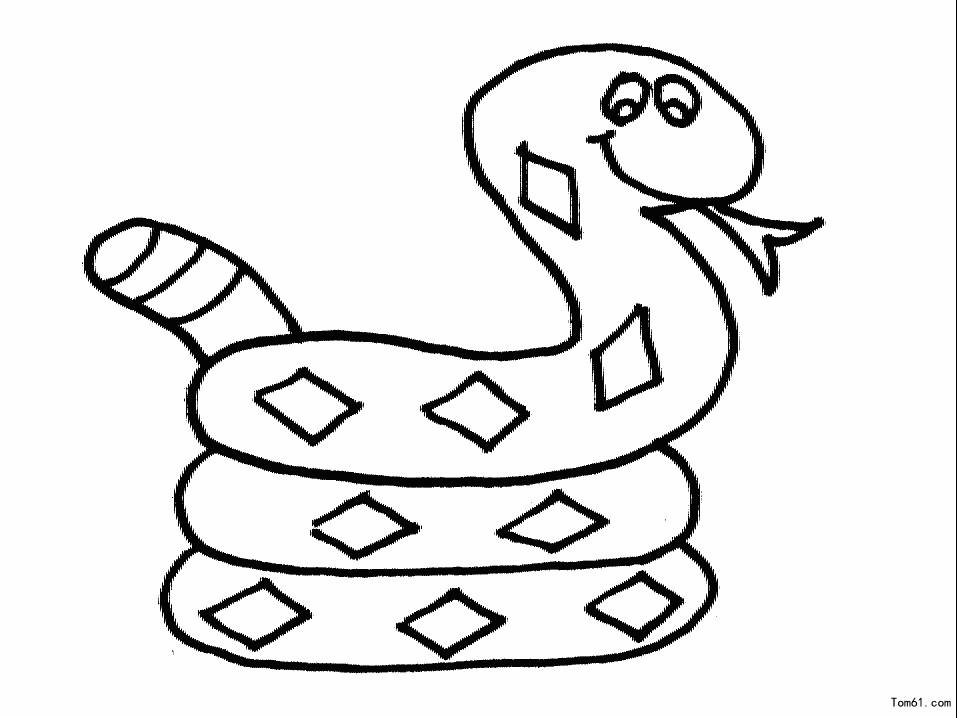 蛇-简笔画图片-儿童资源网手机版