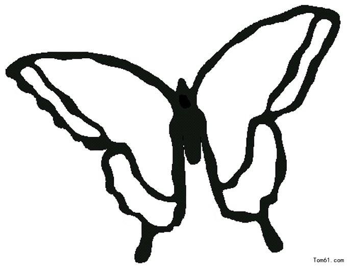蝴蝶简笔画可爱片