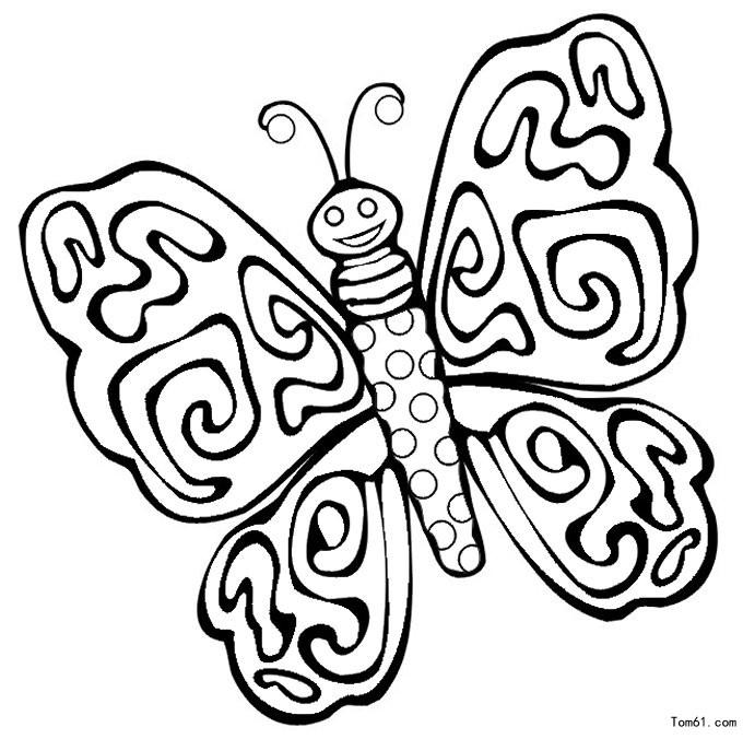 蝴蝶 简笔画图片 儿童资源网手机版
