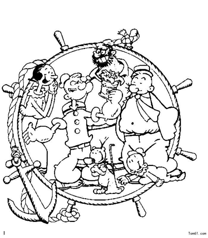 大力水手-简笔画图片-儿童资源网手机版
