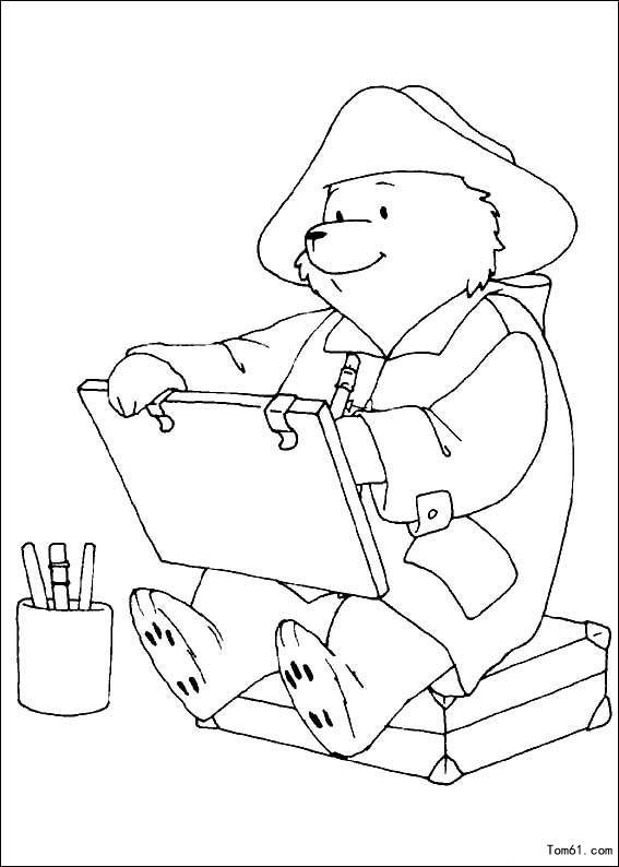熊爸爸妈妈简笔画