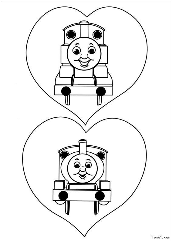 托马斯与小火车-简笔画图片-儿童资源网手机版