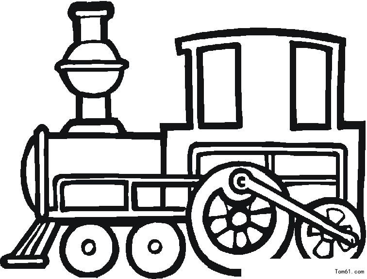 火车简笔画和涂色卡图片12张第6张
