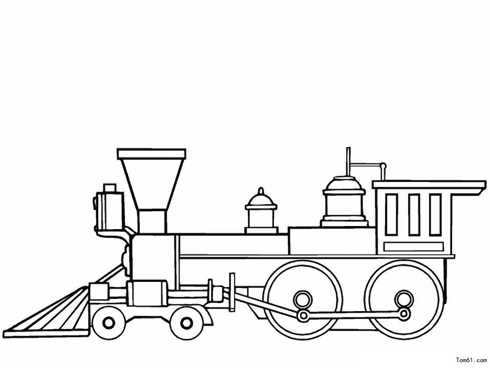火车简笔画可爱