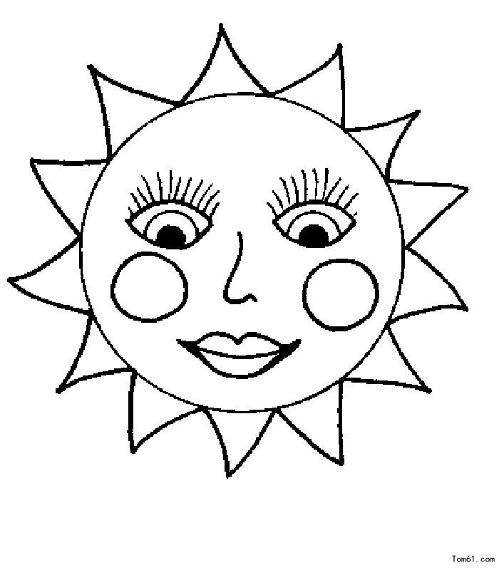 太阳的可爱简笔画