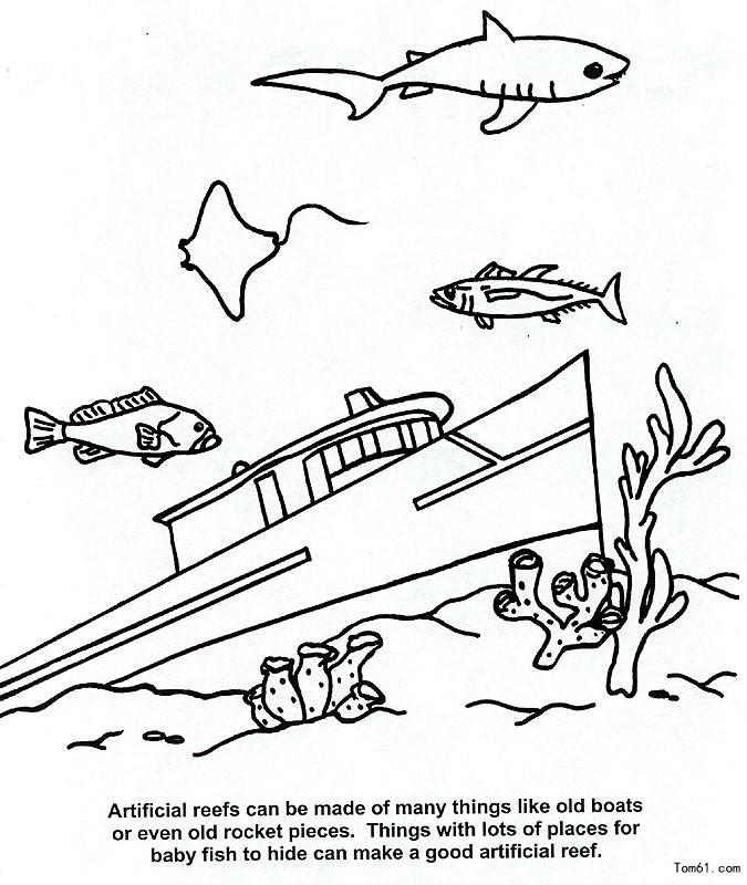海洋风景-简笔画图片-儿童资源网手机版