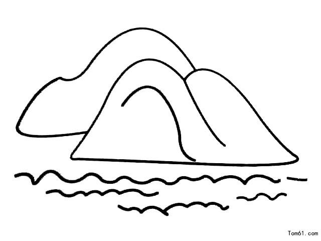湖泊-简笔画图片-儿童资源网手机版