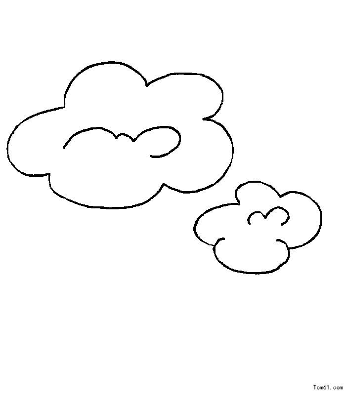 白云-简笔画图片-儿童资源网手机版
