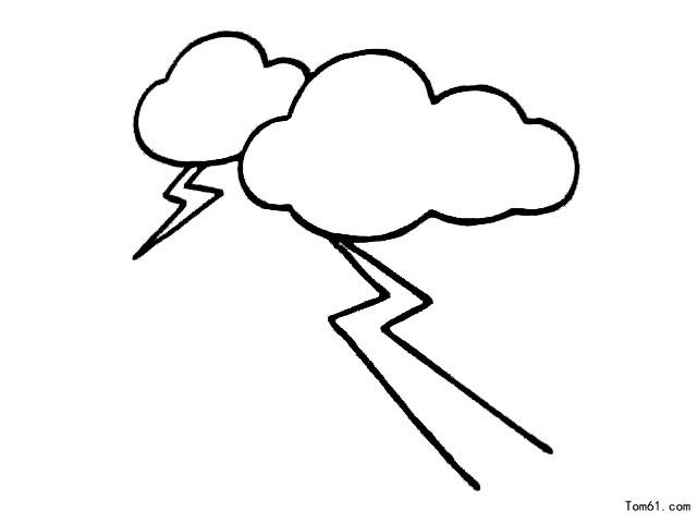 闪电-简笔画图片-儿童资源网手机版