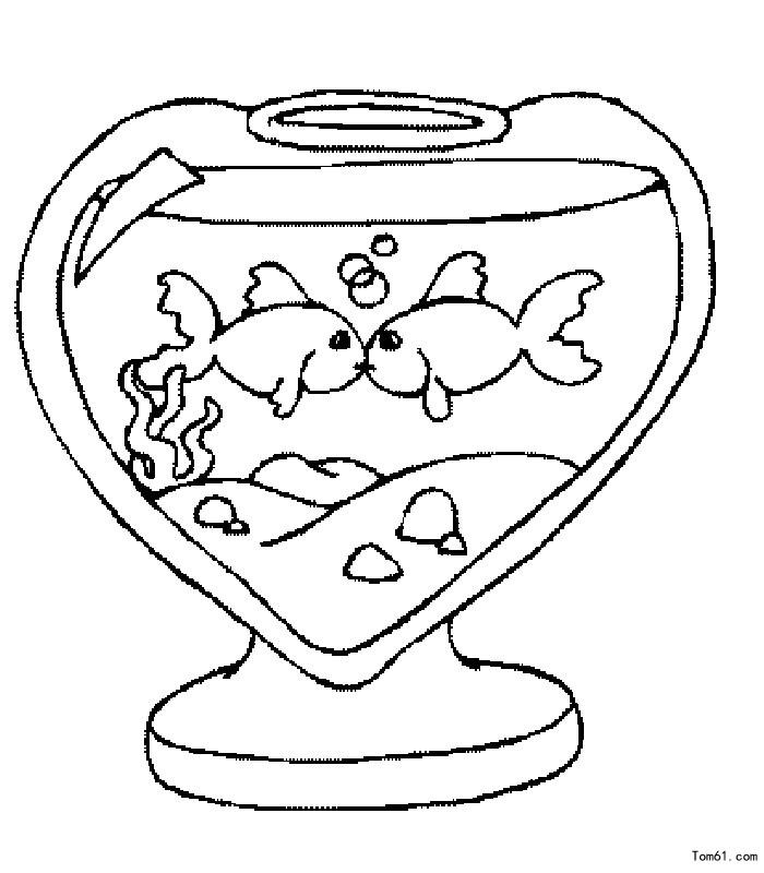 鱼缸 简笔画 图片 儿童资源网手机版
