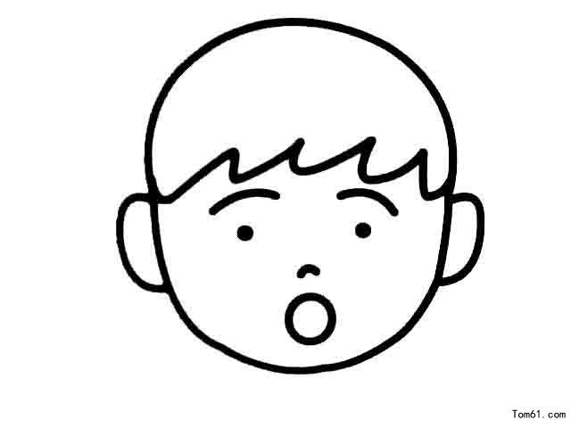 如何画宝宝卡通头部简笔画