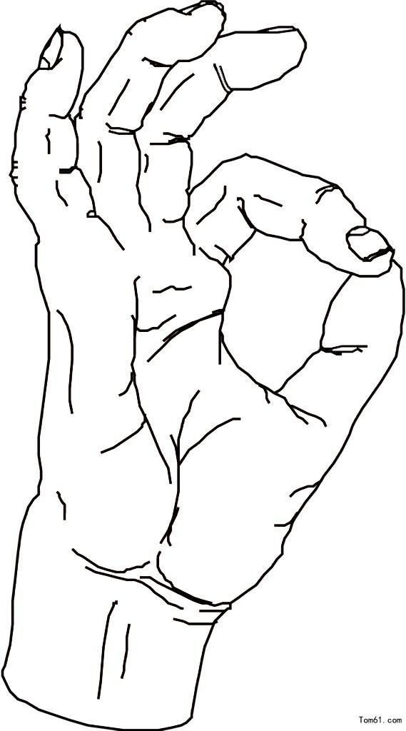 手姿-简笔画图片-儿童资源网手机版