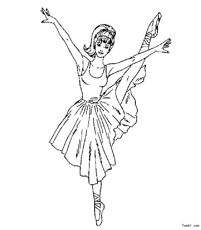 跳舞-简笔画图片-儿童资源网手机版