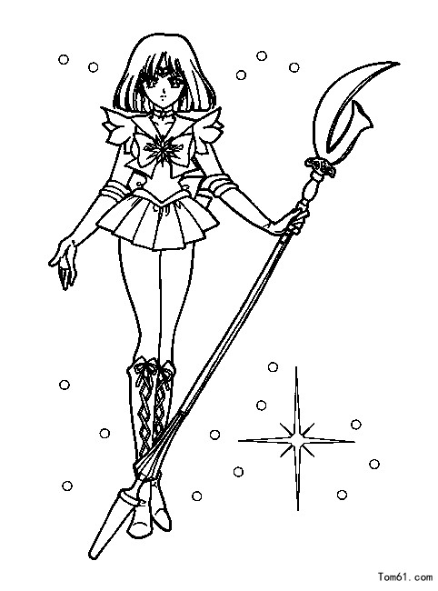 美少女战士5 简笔画图片