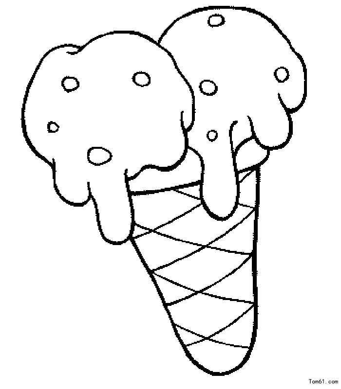 冰激凌-简笔画图片-儿童资源网手机版