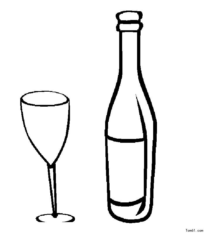 葡萄酒-简笔画图片-儿童资源网手机版