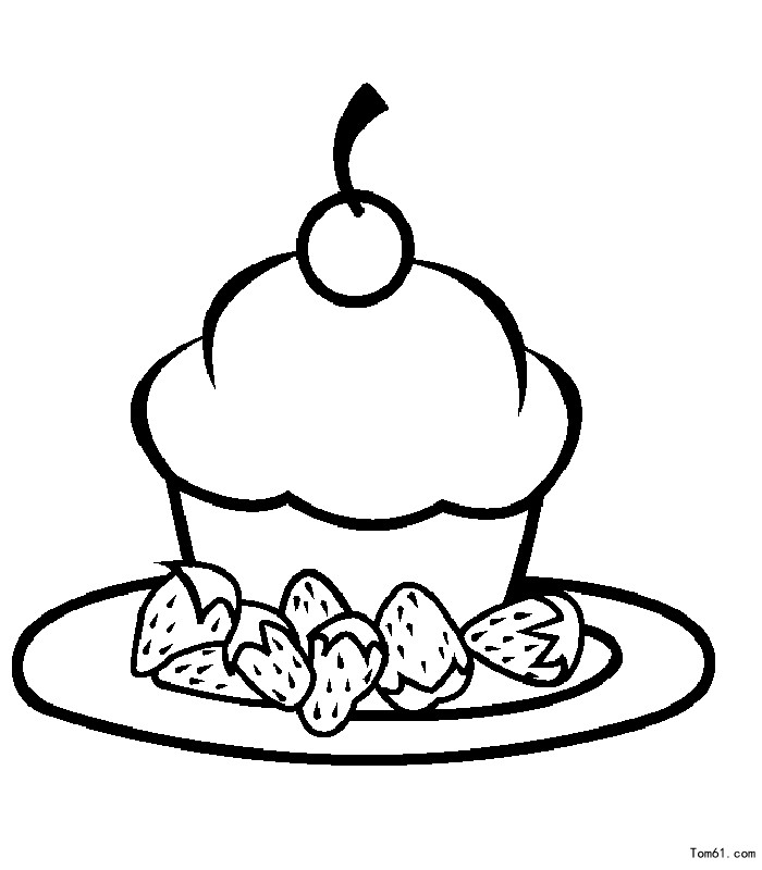蛋糕-简笔画图片-儿童资源网手机版