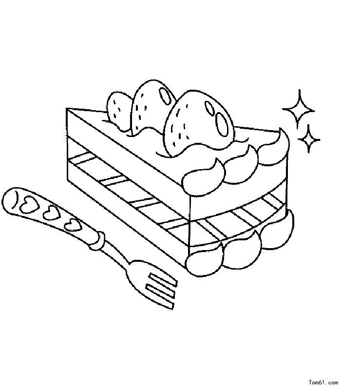 蛋糕-简笔画图片-儿童资源网手机版图片