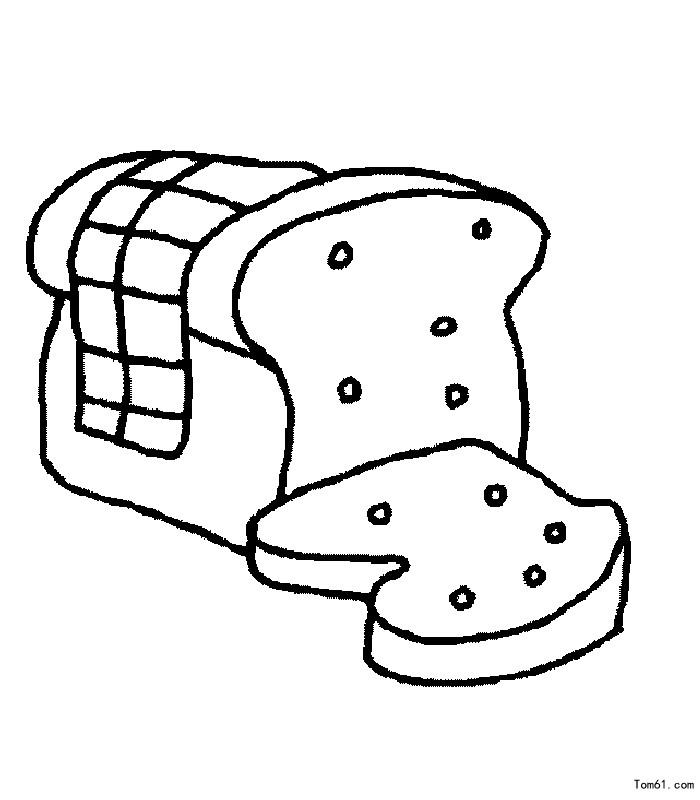 面包卡通简笔画