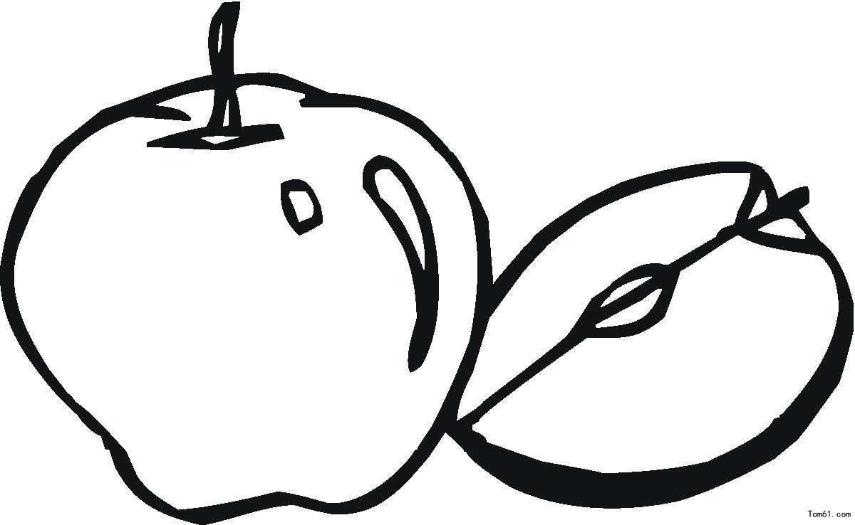苹果-简笔画图片-儿童资源网手机版