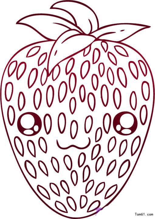 草莓-简笔画图片-儿童资源网手机版