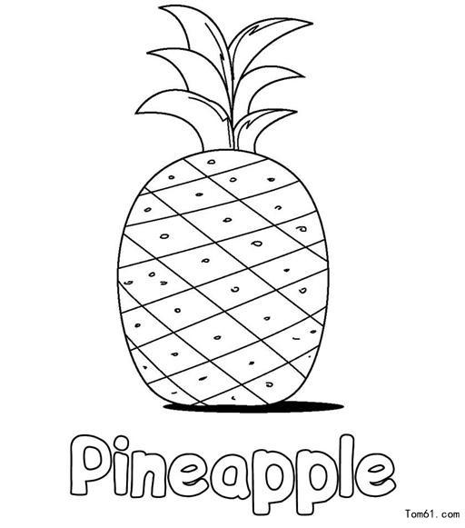 菠萝-简笔画图片-儿童资源网手机版