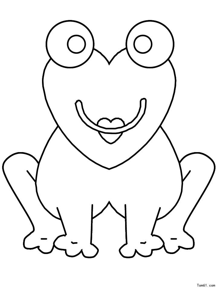 青蛙-简笔画图片-儿童资源网手机版