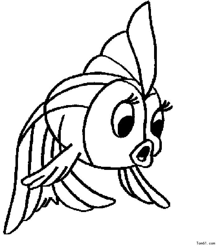 鱼2-简笔画图片-儿童资源网手机版