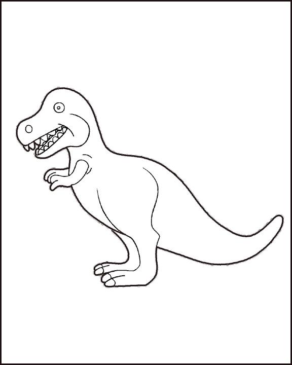恐龙化石简笔画幼儿