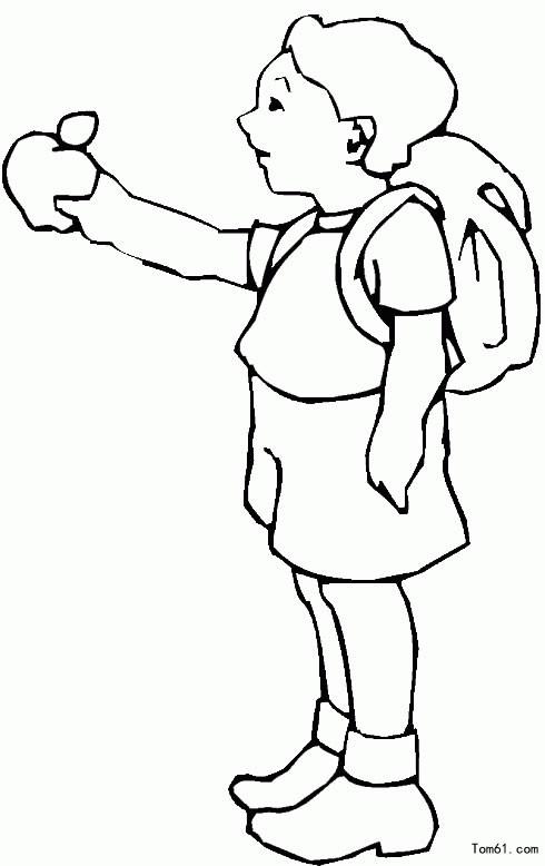 小女孩-简笔画图片-儿童资源网手机版