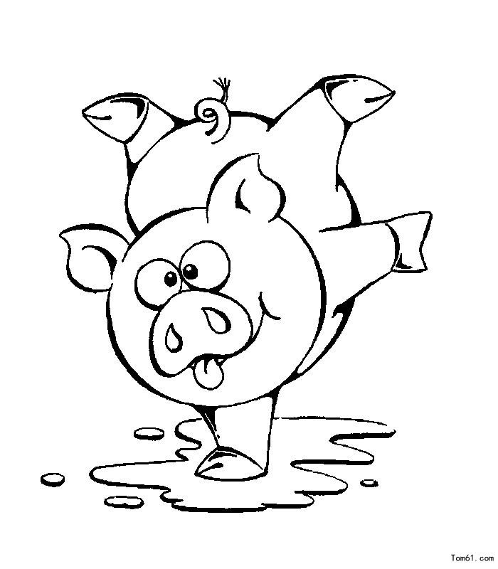 猪-简笔画图片-儿童资源网手机版