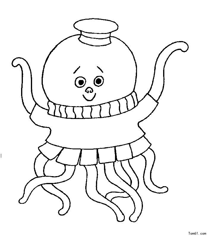 章鱼-简笔画图片-儿童资源网手机版