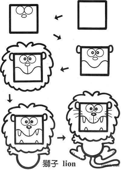 儿童手机简笔画