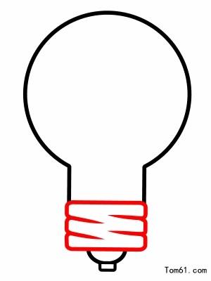 灯泡简笔画可爱