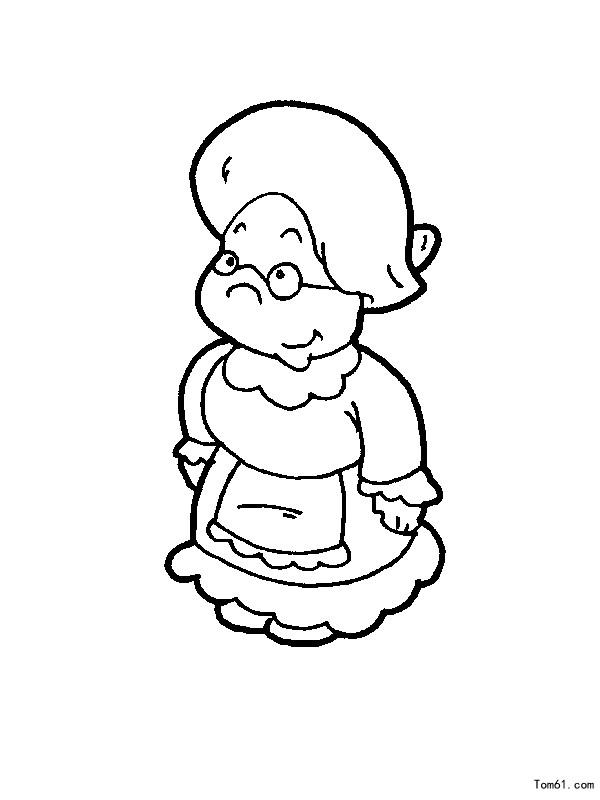 老人-简笔画图片-儿童资源网手机版