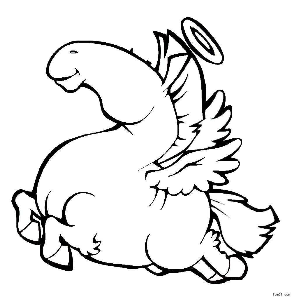 凶恶的动物-简笔画图片-儿童资源网手机版