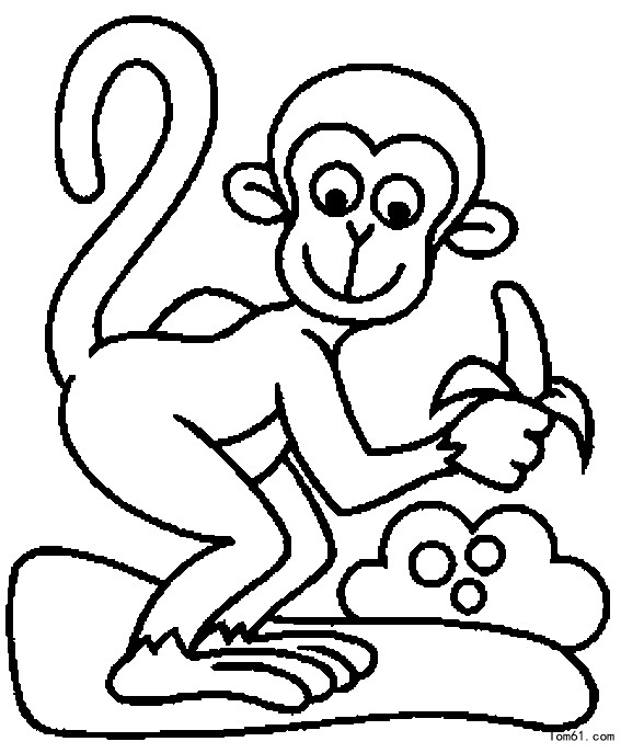 小猴子的简笔画