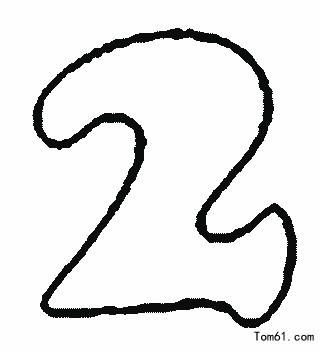 1一10數字簡筆畫